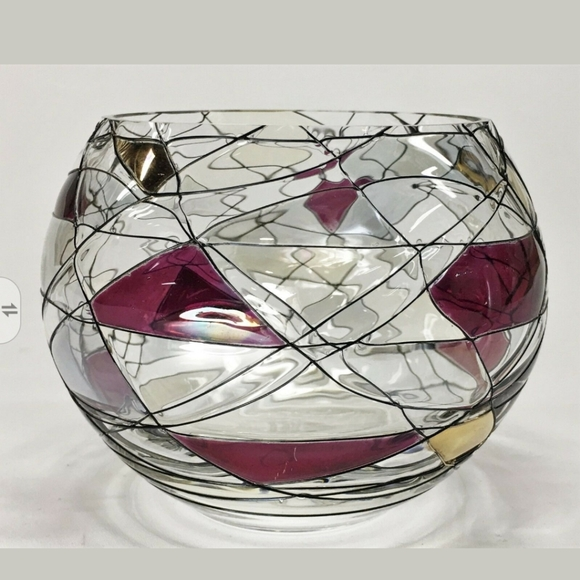 PartyLite Mosaic Calypso stained glass retired